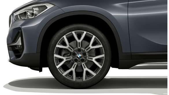 """BMW X1 mit 19"""" Leichtmetallräder Y-Speiche 580 Bicolor Orbitgrau, glanzgedreht, Radgröße 8J x 19, Bereifung 225/45 R19"""