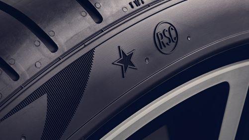 BMW Räder und Reifen EU Reifenlabel Nahaufnahme